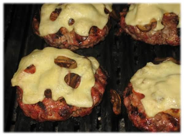 Mushroom Swiss Burgers W/ Bacon
