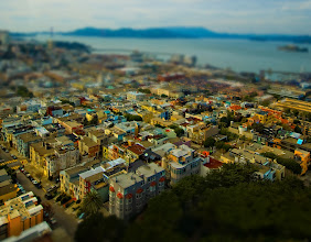 Photo: The Mini-Land of San Francisco  I know some photographers are probably familiar with this tilt-shift type of shot.  For those of you not familiar with it, there is a way to take photos and convert them into something that looks like a miniature.  You can do it in-camera with a certain kind of lens, or afterwards with some post-processing.  I don't do a lot of tilt-shift stuff, but I thought I would share this one! :)  from the blog at www.stuckincustoms.com
