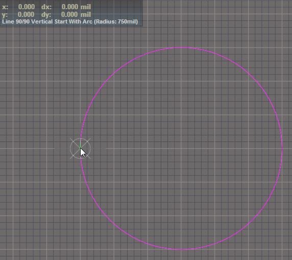 3D-Donut erstellen: Fahren Sie fort, bis Sie den Kreis vollendet haben. Beenden Sie nicht den Zeichenmodus.