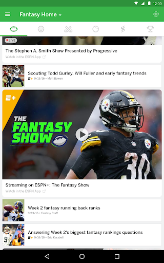 ESPN Fantasy Sports 6.1.2 screenshots 12