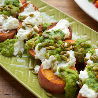 Scott Conant's Roasted Sweet Potatoes with Salsa Verde and Ricotta Cheese