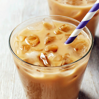 Lavender Laced Iced Coffee.