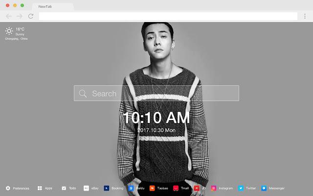 William Chan New Tab Page HD Pop Stars Theme