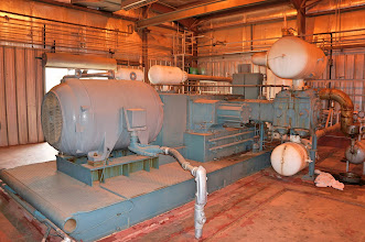 Photo: One of the many compressors in the plant.