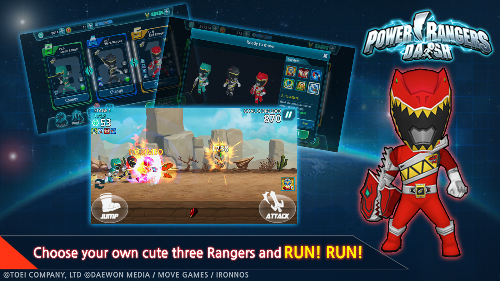 Play Store Game Power Rangers