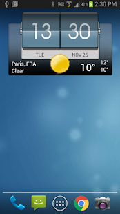 3D Flip Clock & Weather Pro Screenshot
