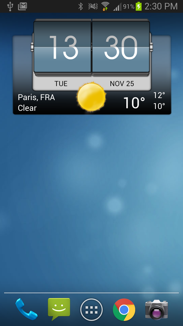 3D Flip Clock & Weather Pro Screenshot