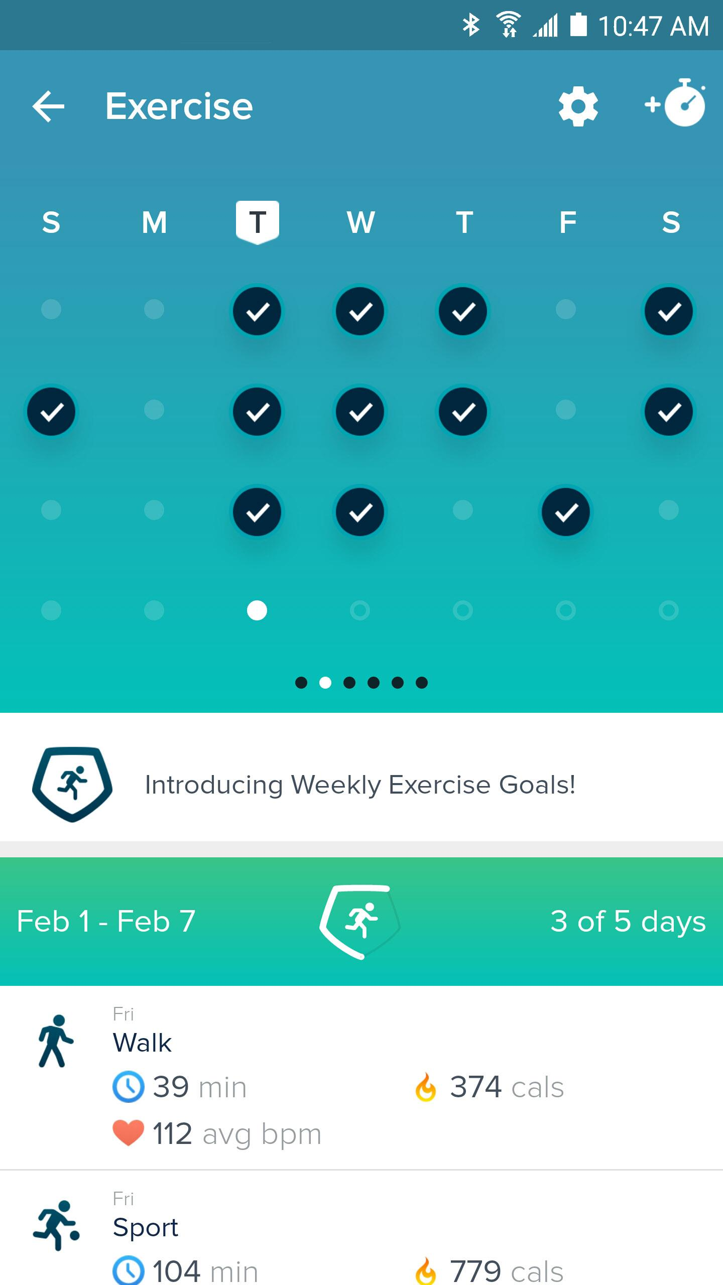 Fitbit screenshot #2