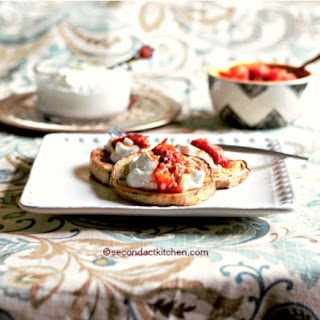 Eggplant with Garlic Yogurt and Tomatoes