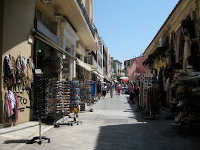 Photo: the Plaka is a pedestrian-only zone, full of narrow lanes and cool shopping