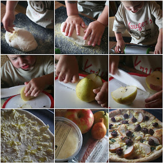 Pear Ricotta Sausage Pizza