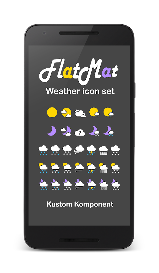 FlatMat Weather icon set for KWGT KLWP- screenshot