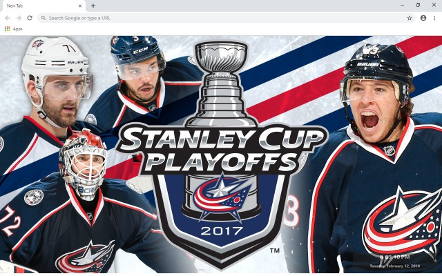 NHL Columbus Blue Jackets New Tab Theme