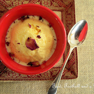 Indian Sweets - Saffron and Rosewater Kulfi
