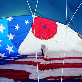 Murica by Seth Parkinson - Uncategorized All Uncategorized ( patriotic ghost america hot air balloon perspective )