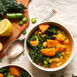 1-Pot Kale Sweet Potato Curry