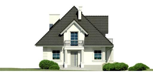 Dom przy Sielskiej 3 - Elewacja przednia