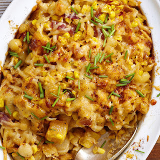 Creamed Corn and Butternut Squash Pasta Bake.