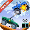 Two players game - Crazy racing via wifi (Premium) icon