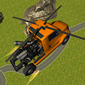 Flying Helicopter Truck Flight