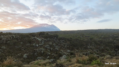 Photo: we got our first views of Kili