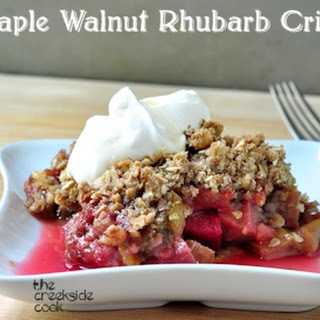 Maple Walnut Rhubarb Crisp