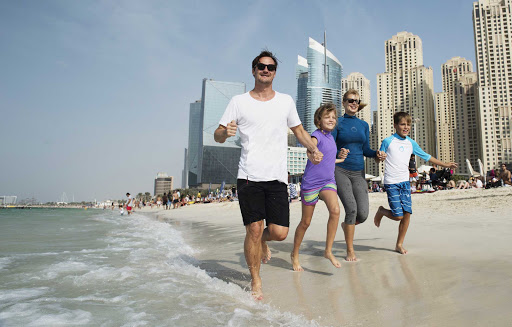 Winter in Dubai means more time on the beach.