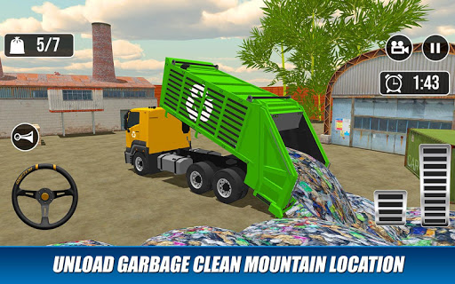 Offroad Garbage Truck: Dump Truck Driving Games apktram screenshots 14