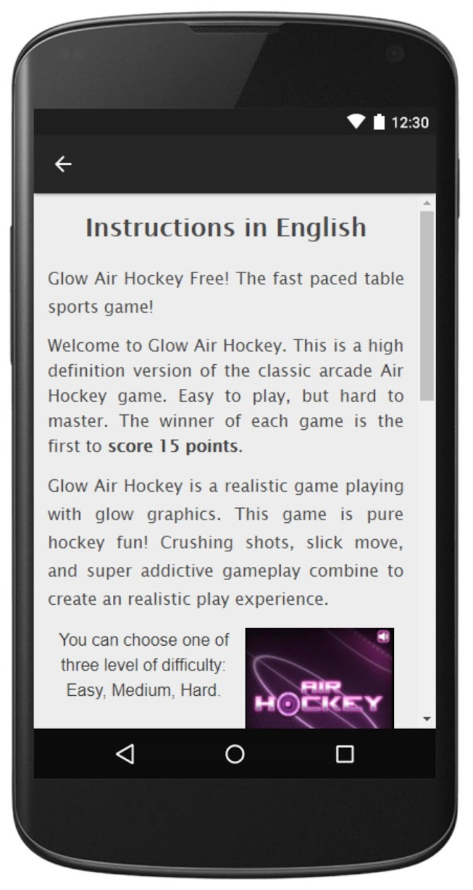 Air Hockey -Fast Paced Table-Sport Simulation Game Android 8
