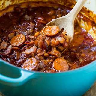 Baked Beans with Smoked Sausage.