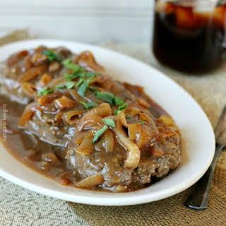 Hamburger Steak With Onions and Brown Gravy Recipe.
