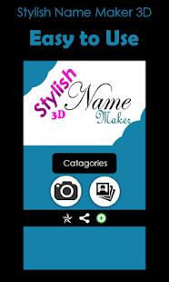 Stylish Name Maker 3D - náhled