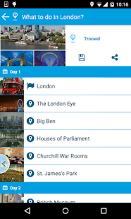 Troovel Itinerary Trip Planner- screenshot thumbnail