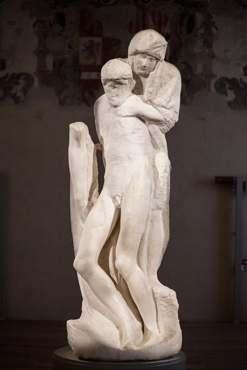 Michelangelo, Rondanini Pietà, 1564, Castello Sforzesco, Milan, Italy.
