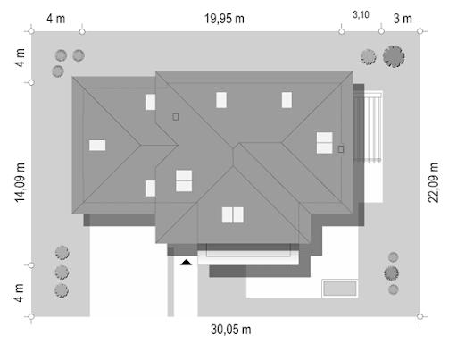 Dom z widokiem 2 C - Sytuacja