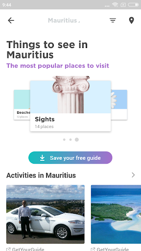 mauritius travel guide in english with map screenshot 2