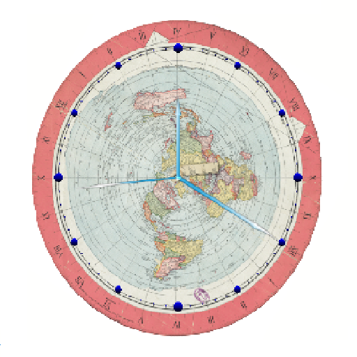 Flat Earth Map Clock – Apps on Google Play