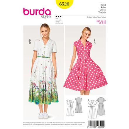 6520 Burda - Skjortklänning