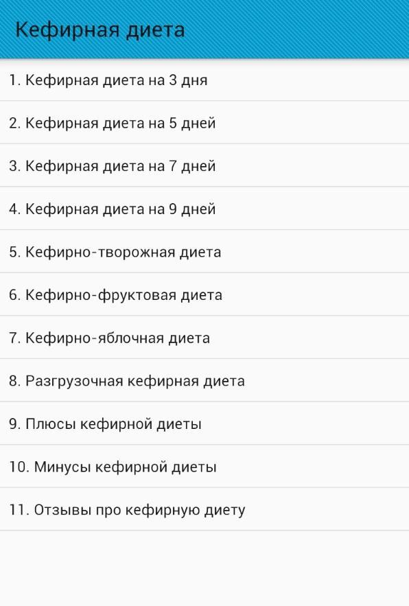 Кефирная диета - Android-apps op Google Play