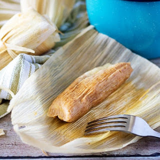 Homemade Tamales with Cheese and Green Chiles Recipe
