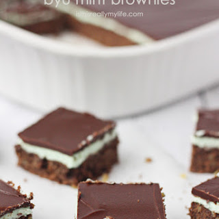 Low(er) Calorie BYU Mint Brownies.