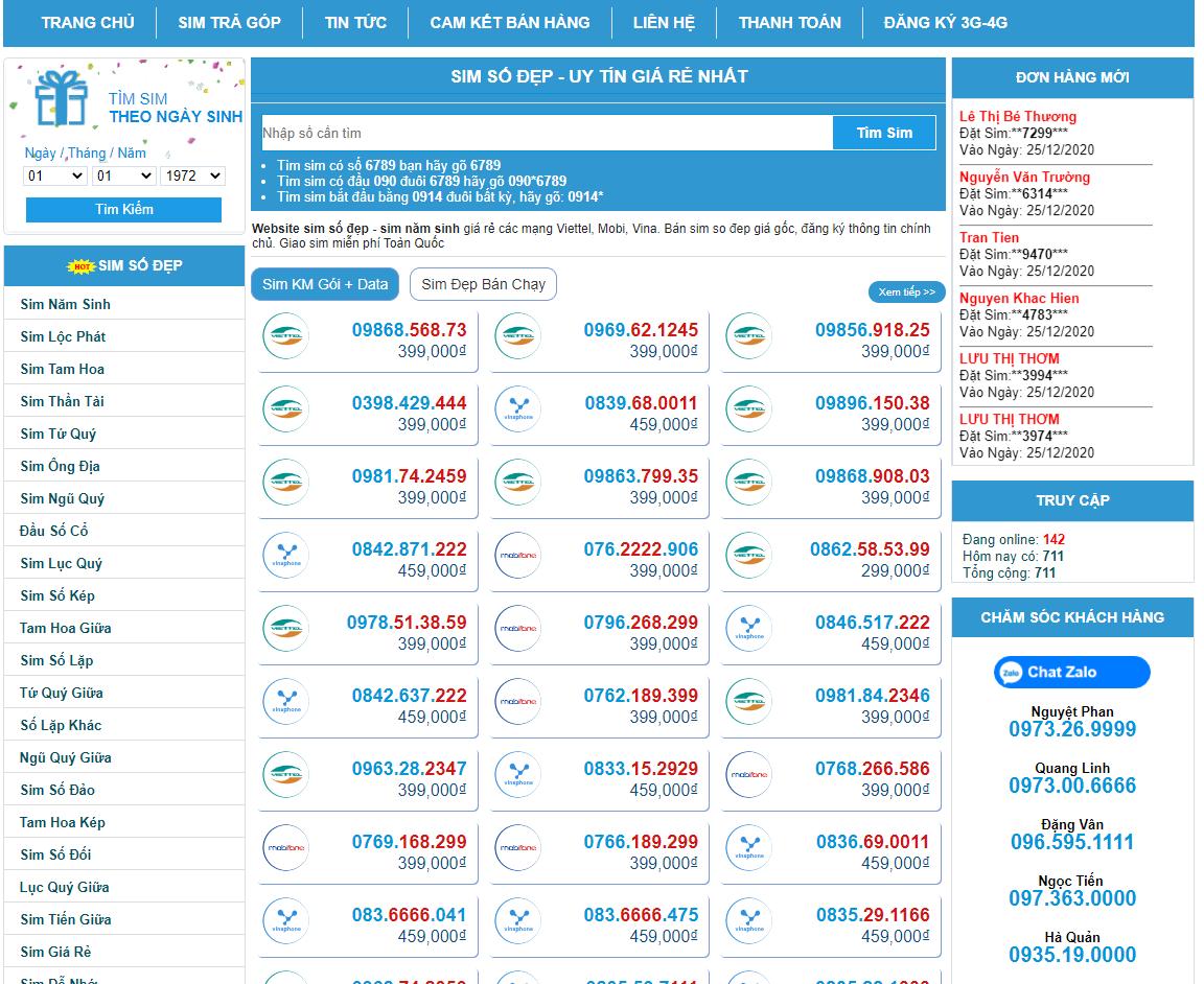 Chọn sim Viettel giá rẻ tại Sim Đẹp Online - Tổng Kho sim lớn hàng đầu tại  Việt Nam - Ảnh 3