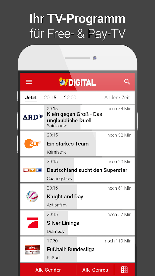 TV DIGITAL TV-Programm mit Sky- screenshot