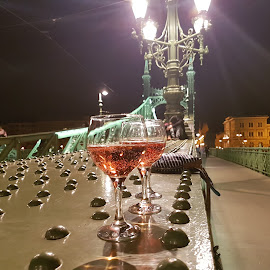 Budapest by night by Sandor Horvath - Food & Drink Alcohol & Drinks ( city, street, night, budapest, bridge )