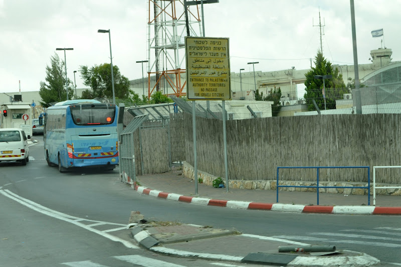 Photo: Approaching Bethlehem and the wall