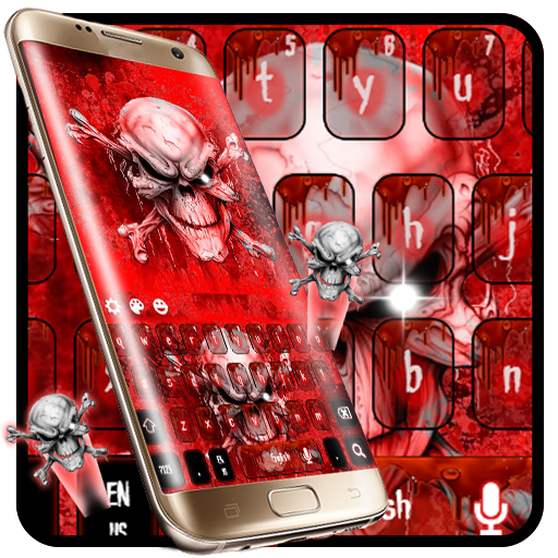 Bloody Skull keyboard Theme