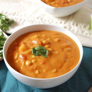 Indian Spiced Vegetable Chickpea Soup + Blendtec Blender Giveaway!