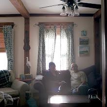Photo: title: Bob Keyes + Vicki Lloyd, Berwick, Maine date: 2016 relationship: friends, art (business), met through art world Portland  years known: Bob 15-20; Vicki 0-5