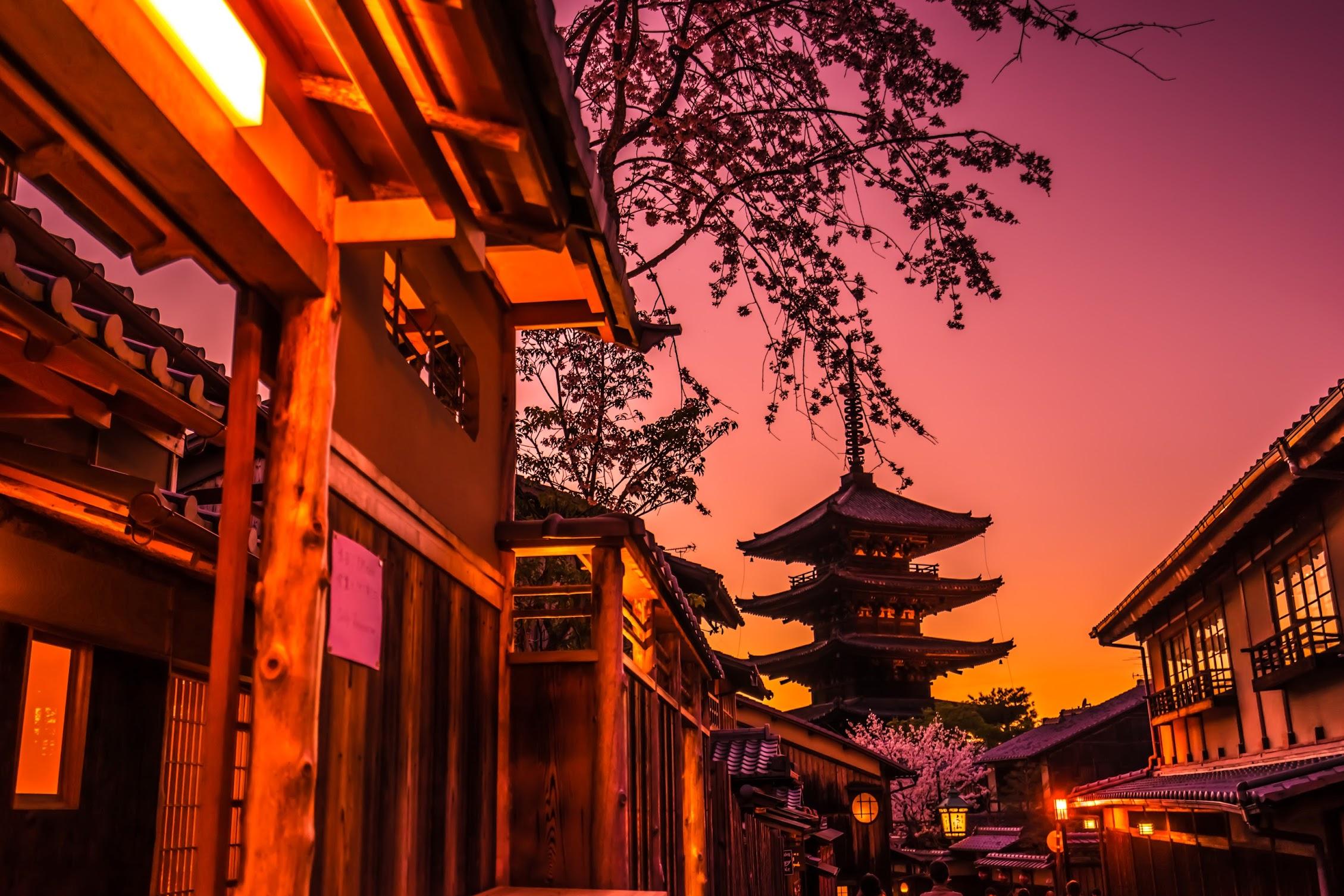 京都 八坂の塔 夕景7