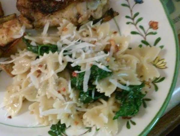 Creamy Bow Tie Pasta With Kale Recipe